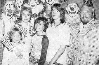 The family at the circus in 1975(?) - photographer unknown